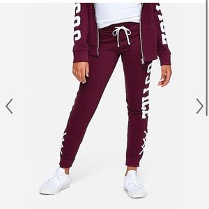 Justice lace up joggers and matching sweatshirt